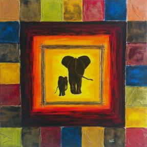 tableau-elephants